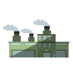 building industry factory chimney shadow vector image