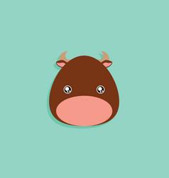 Cartoon bull face vector