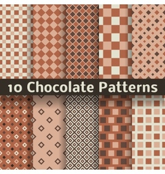 Chocolate seamless patterns tiling vector image
