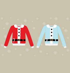 christmas sweater on background vector image