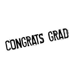 congrats grad rubber stamp vector image