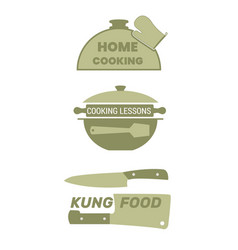 cooking label set for home food vector image