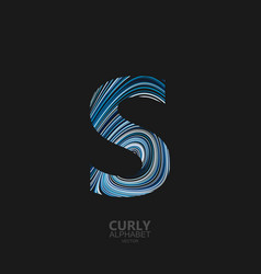 curly textured letter s vector image