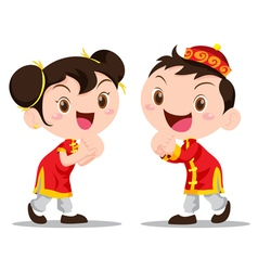 Cute Chinese Kids vector