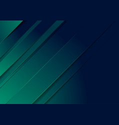 dark green and blue stripes abstract background vector image