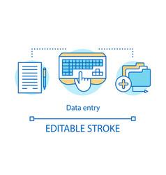 Data entry concept icon secretary personal vector