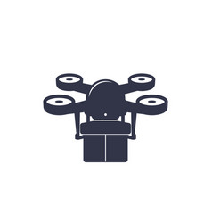 Drone delivery icon vector