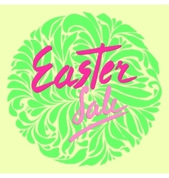 easter sale flyer vector image