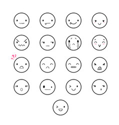 emoticons doodle round vector image