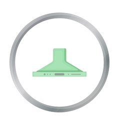 Exhaust hood icon in cartoon style isolated on vector image