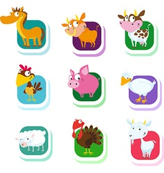 Farm animals - icon vector