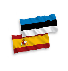 flags spain and estonia on a white background vector image