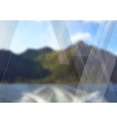 Geometric landscape abstract tech background vector