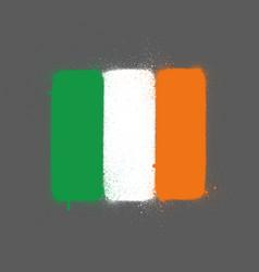 Graffti ireland flag sprayed over grey vector