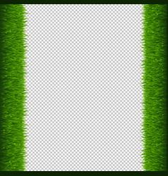 green grass frame transparent background vector image
