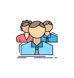 Group multiplayer people team online flat color vector