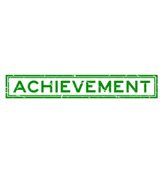 grunge green achievement word square rubber seal vector image