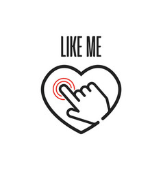 hearts like me vector image