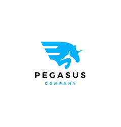 horse wing pegasus logo icon vector image