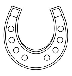 horseshoe icon outline vector image