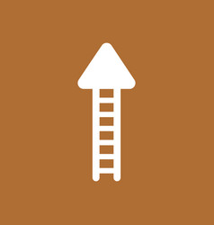 Icon concept of ladder arrow moving up on brown vector