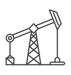 Industrial oil and gas production linear icon vector