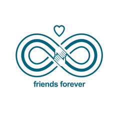 infinite friendship friends forever special vector image