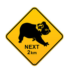 Koala australian road sign vector
