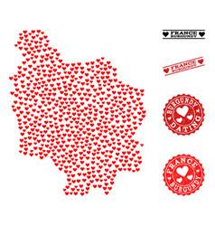 Burgundy France Map Vector Images 42