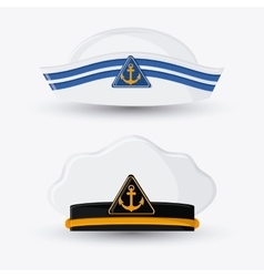 Marine cap cloth accesory design vector