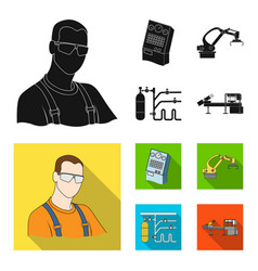 modern equipment and other web icon in black flat vector image