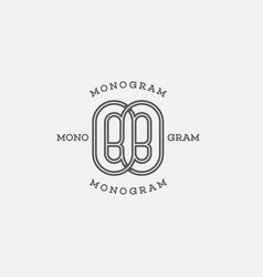 Monogram bb vector
