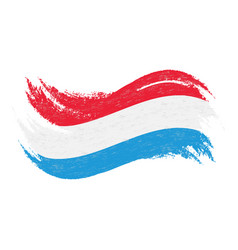 national flag of luxembourg designed using brush vector image