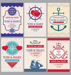 Nautical congratulations backgrounds for vector