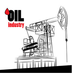 oil industry - oil pump isolated vector image