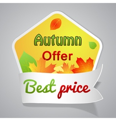 One big autumn sale labele vector image