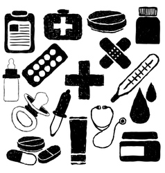 pharmacy doodle images vector image