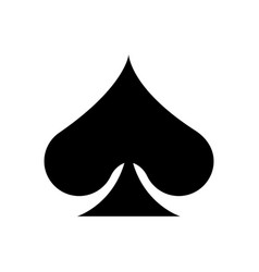Playing cards spade vector