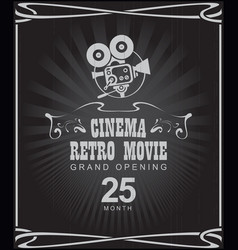 Poster for cinema retro movie with old camera vector