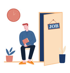recruitment and choosing candidate concept hr vector image