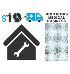 Repair Building Icon with 1000 Medical Business vector image