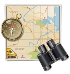 Safari map vector