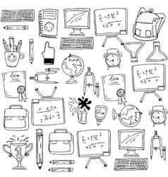 School education supplies doodles vector