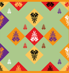 seamless pattern with decor vector image