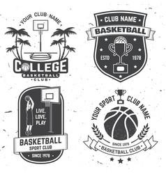 set basketball club badge concept vector image