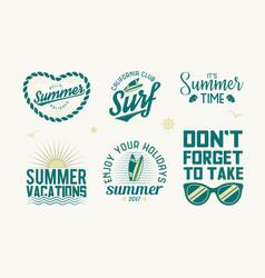 set of summer badges vector image