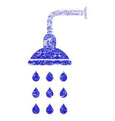 Shower grunge textured icon vector