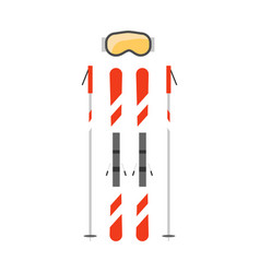 ski poles flat vector image