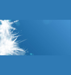 snow powder white explosion empty banner poster vector image