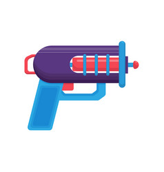 Space ray gun blue blaster toy weapon vector